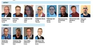 Tästä kuvasta voit löytää 2 Perussuomalaista ehdokasta lipsahtaneena väärälle listalle.
