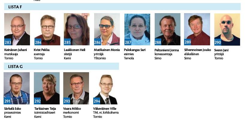 Perussuomalaiset Oulun Vaalipiiri Ehdokkaat