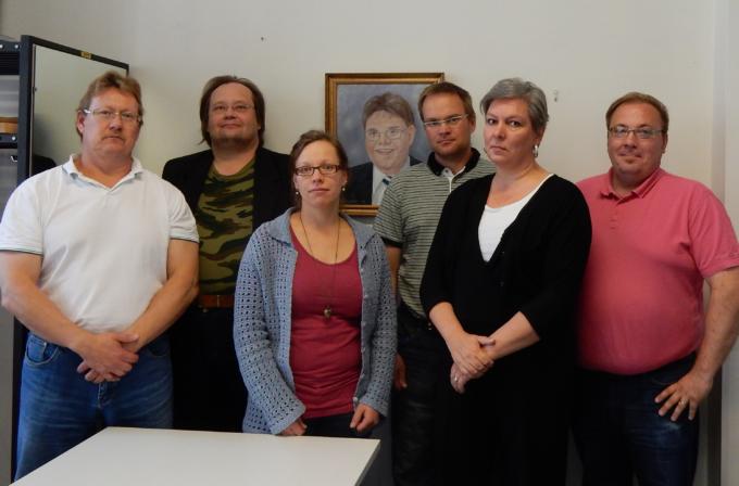 """Kuva: Markku Hanhela, Esa Paloniemi, Tanja Paakkola, """"Timo Soini"""", Janne Koskela, Marja Nousiainen, Jari-Pekka Teurajärvi"""